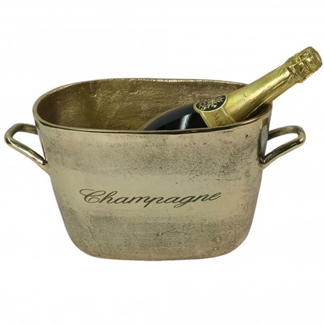 Aluminium Champagne Bucket (Brass Finish)