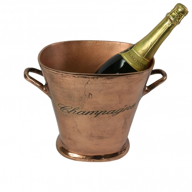 Aluminium Champagne Bucket (Copper Finish)