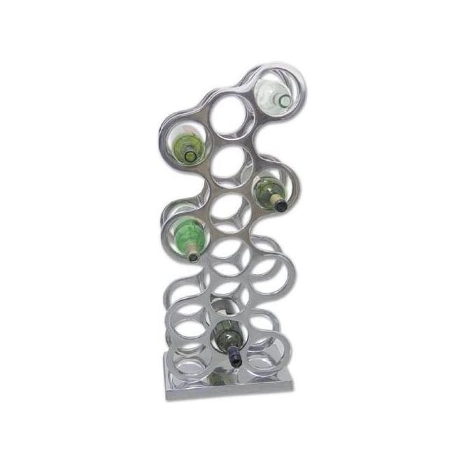 Aluminium Wine Rack (Holds 14 Bottles)