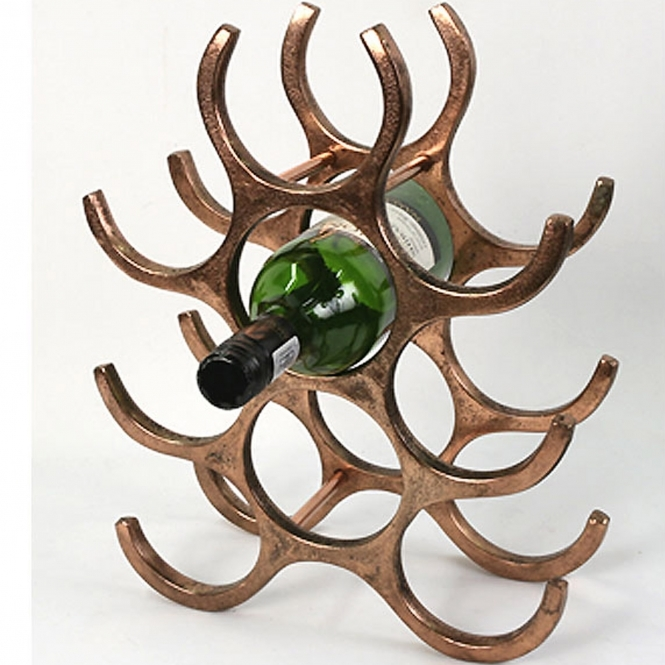 Aluminium Wine Rack (Holds 9 Bottles)