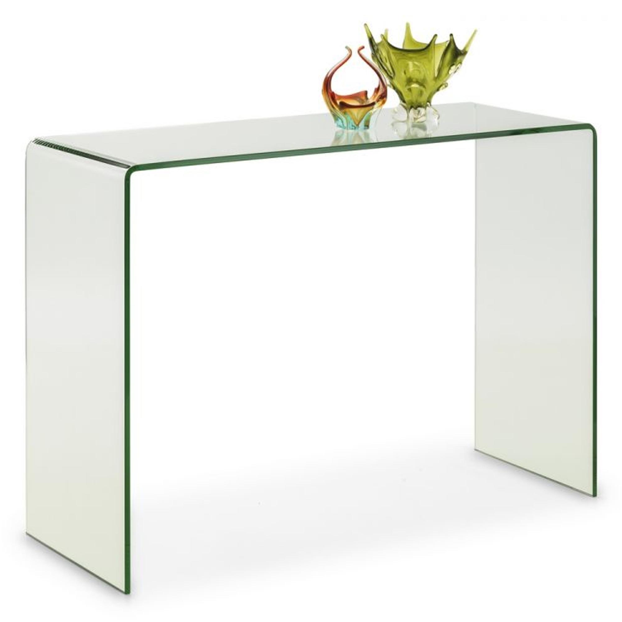 pretty nice 193ea 92084 Amalfi Bent Glass Console Table