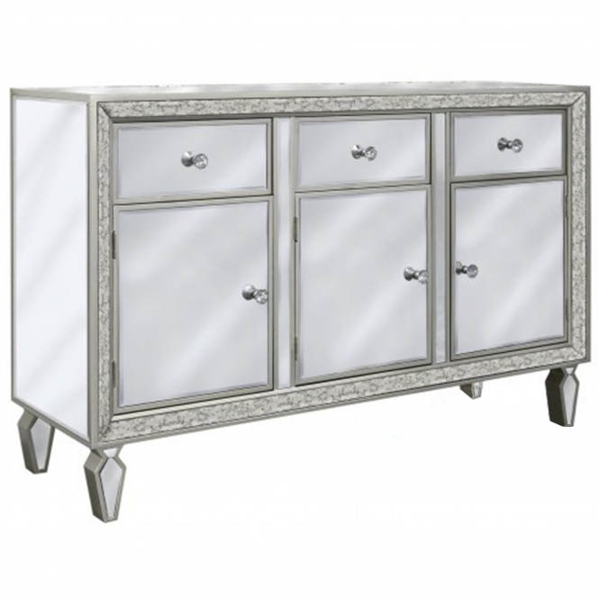 Amalfi Clear Mirrored Cabinet