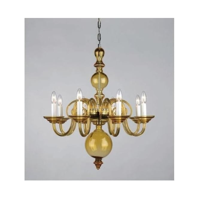 Amber Antique French Style Pendant Light