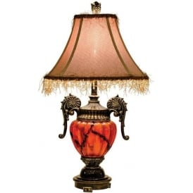 Amber Antique French Style Table Lamp