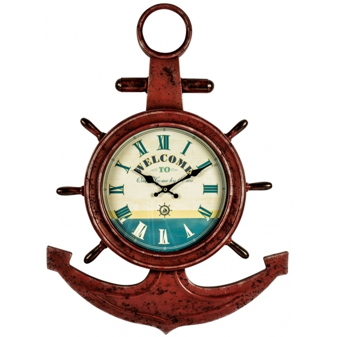 Anchor Shabby Chic Shelf Clock