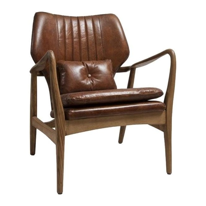 Anglia Ebony Leather Chair