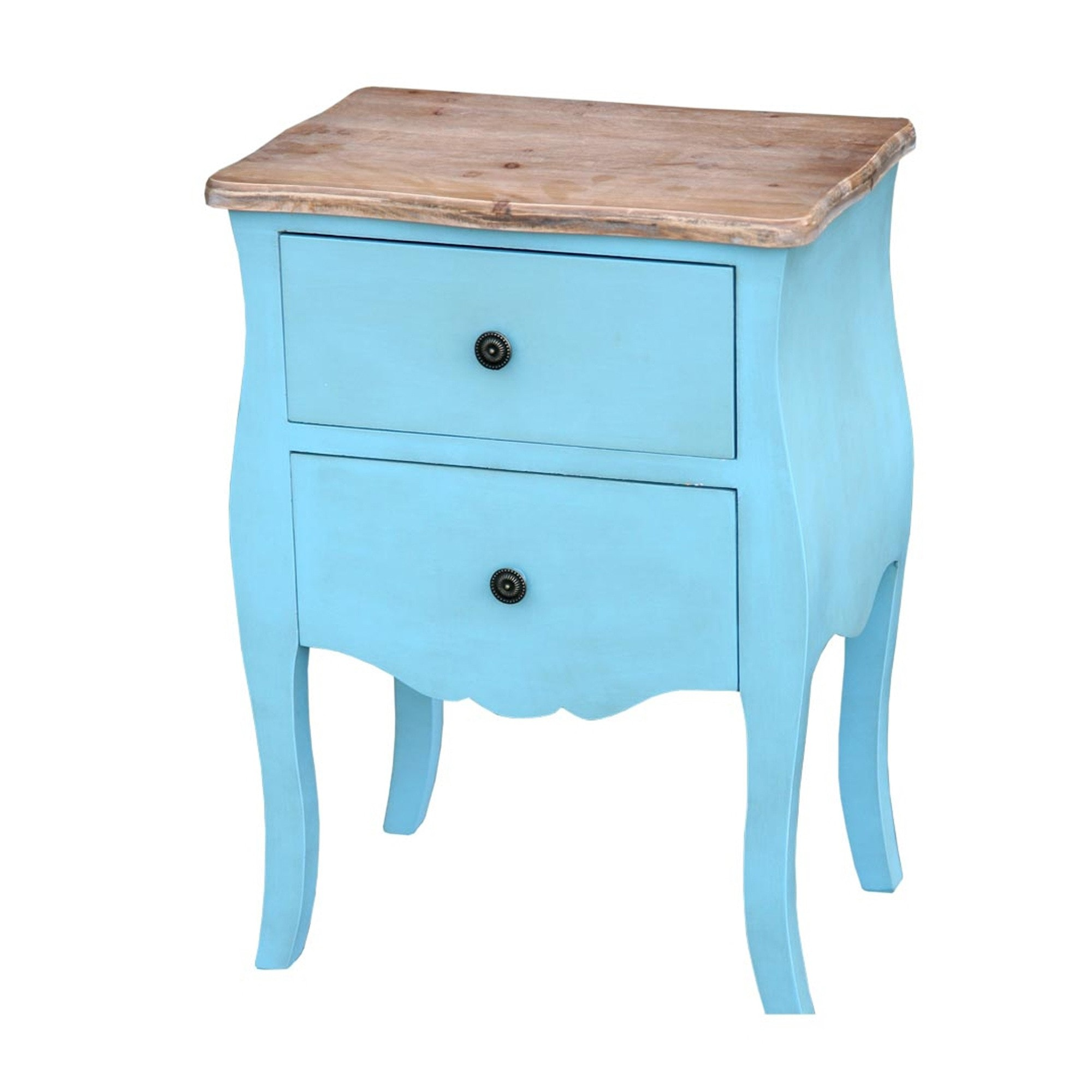 Antique Blue Transylvania Bedside Table Blue Bedside Table