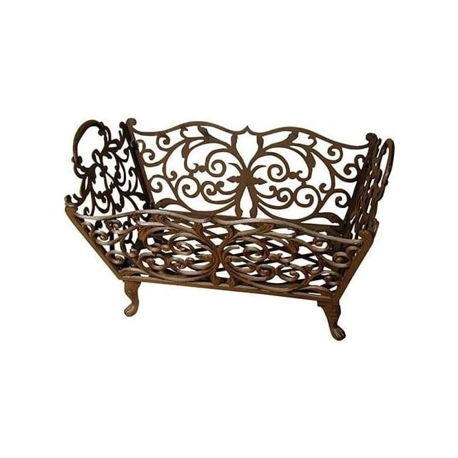 Antique Cast Iron Log Basket