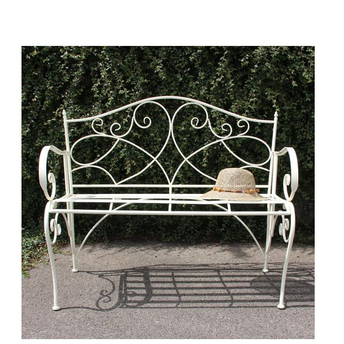 Metal Antique French Style Garden Patio Bench