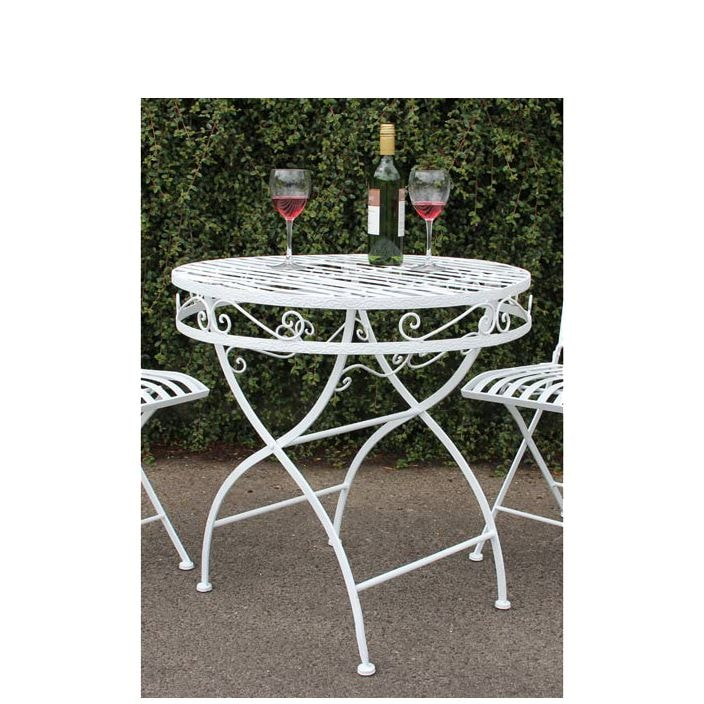 Metal Antique French Style Garden Patio Table