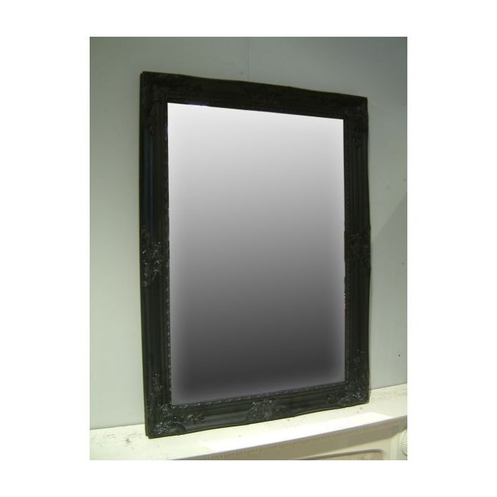 Black Antique French Style Wall Mirror