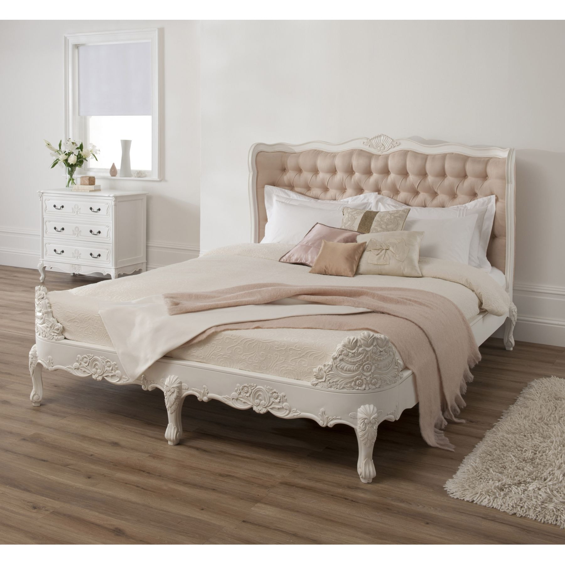 frame nesttun size white king bed beds bedroom double ikea en