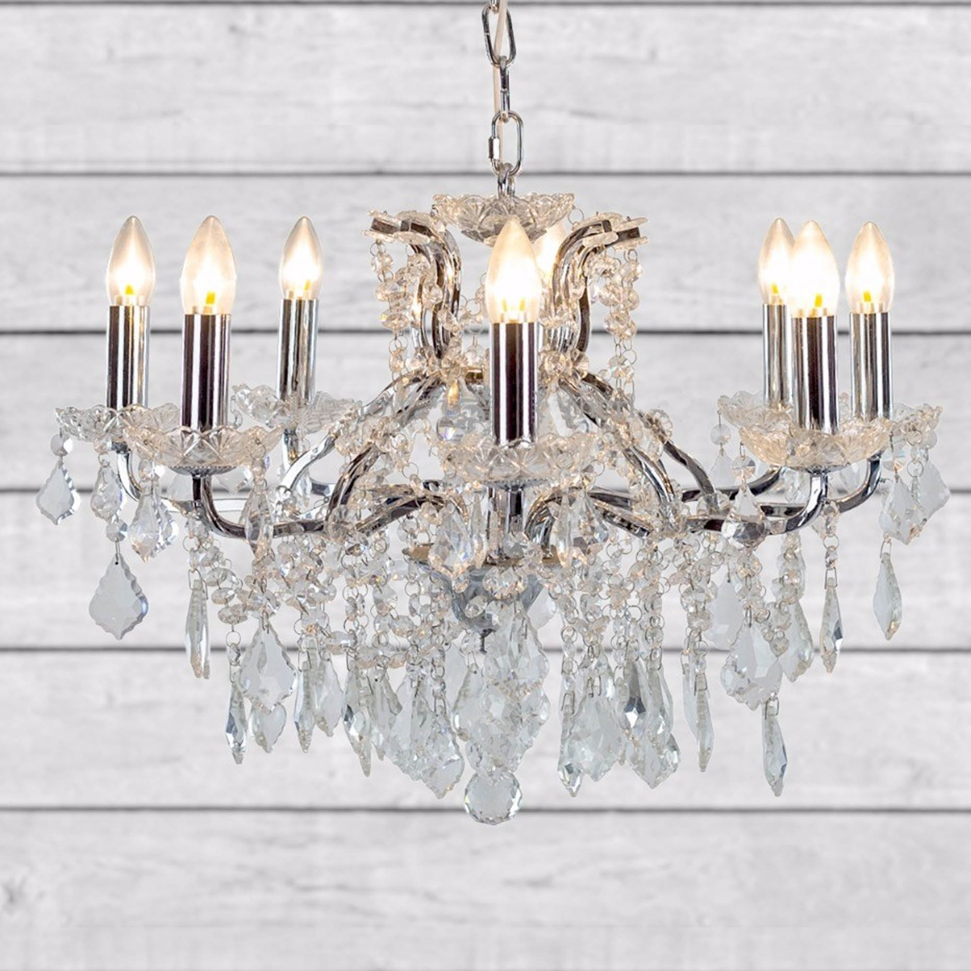 antique french style 8 branch chrome shallow chandelier homesdirect365. Black Bedroom Furniture Sets. Home Design Ideas