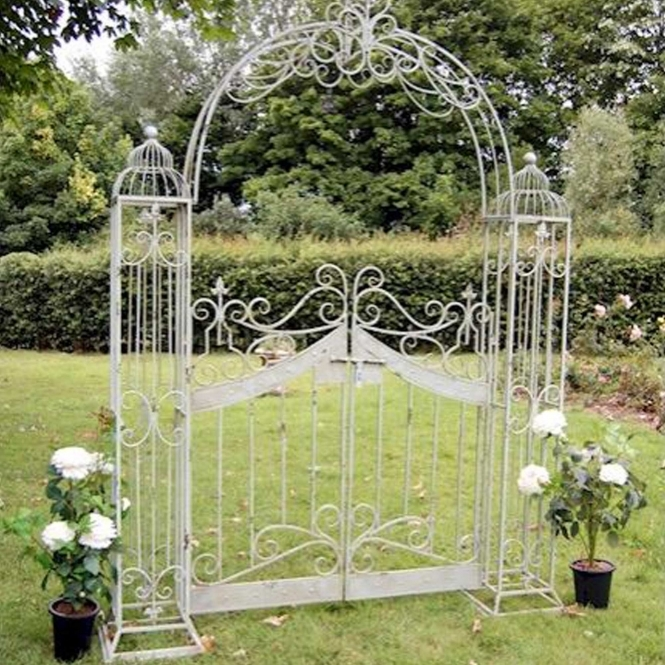 Antique French Style Arch with Gates