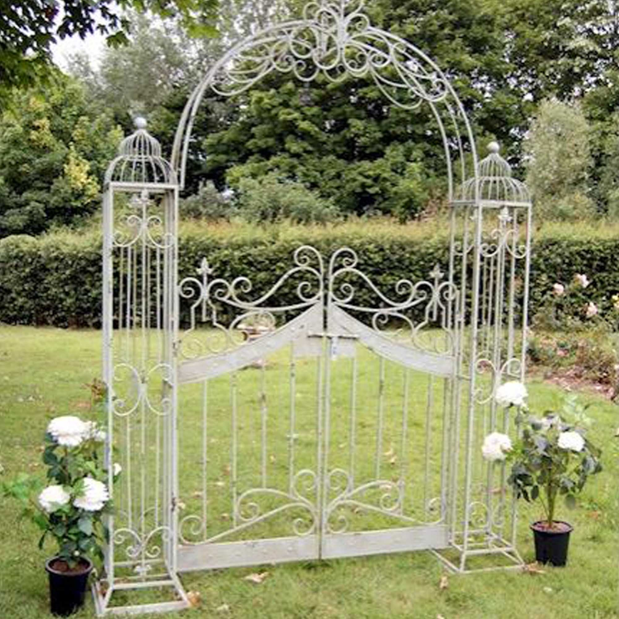 Antique French Style Arch With Gates Outdoor