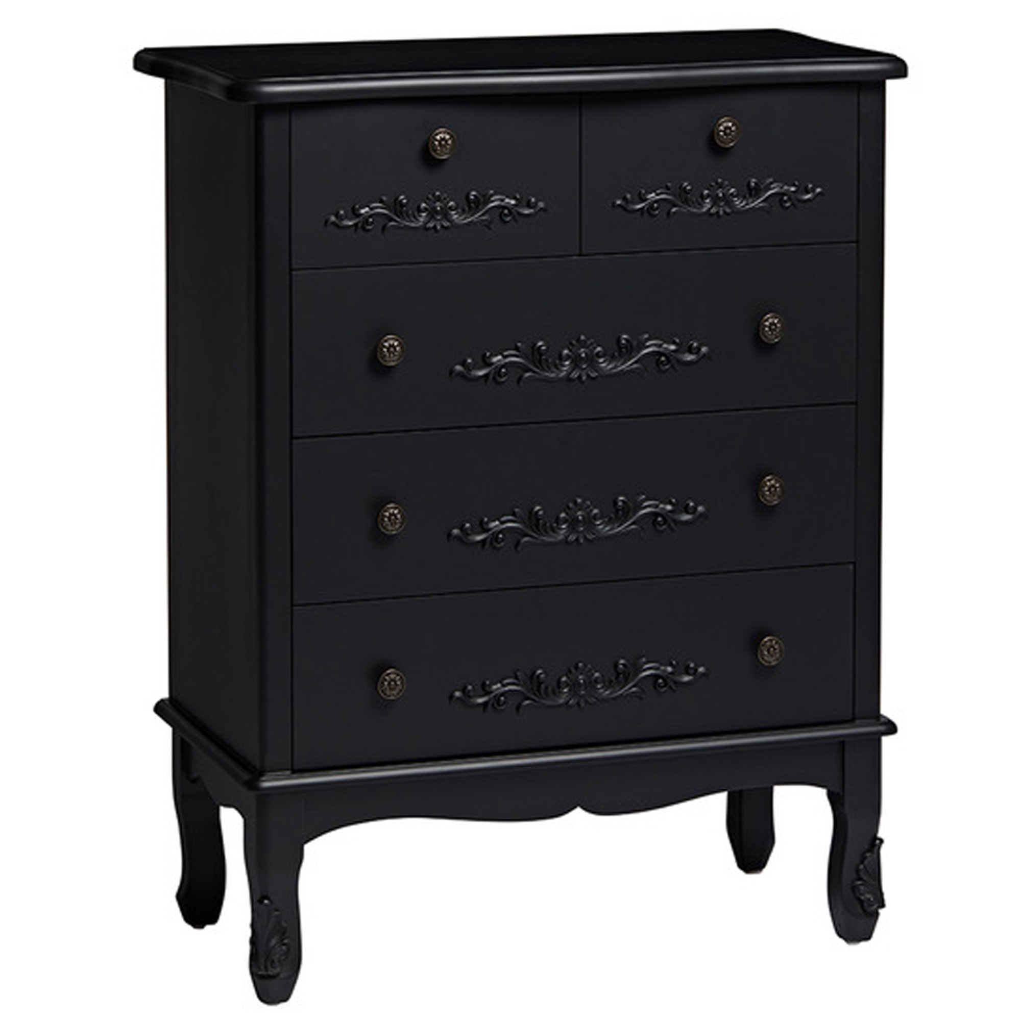 promo code 9c576 f5f1d Antique French Style Black Antoinette Large Chest Of Drawers