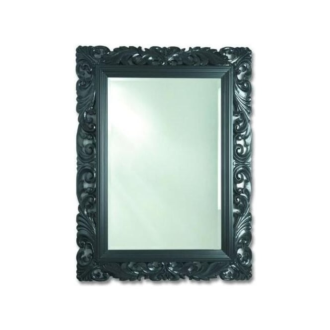 Antique French Style Black Mirror 2