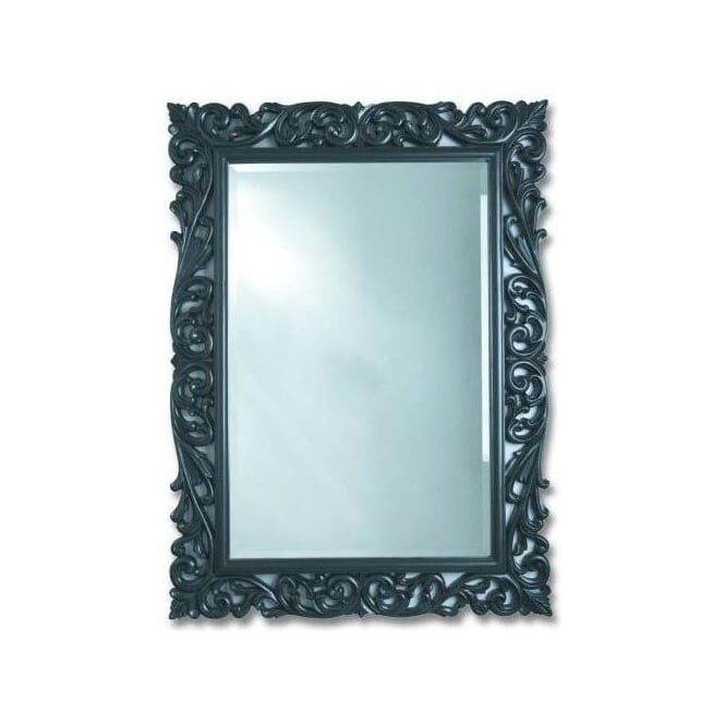Antique French Style Black Mirror 4