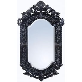 Antique French Style Black Mirror