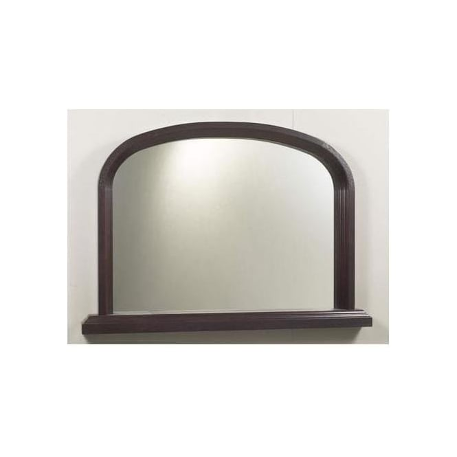 Antique French Style Black Overmantle Mirror