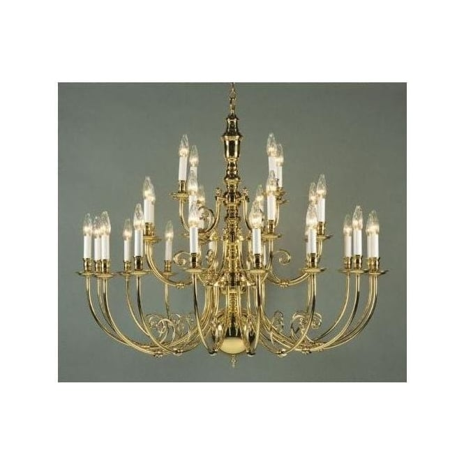 Antique French Style Brass Pendant Light 5