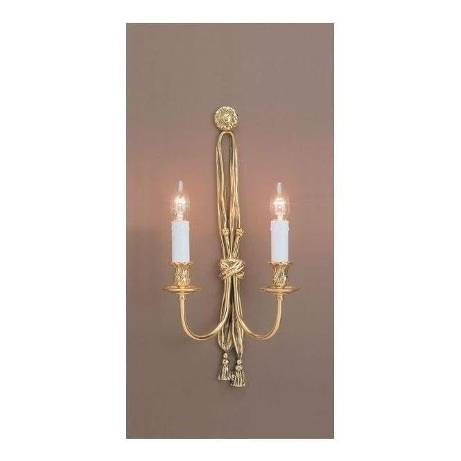 Antique French Style Brass Wall Light 2
