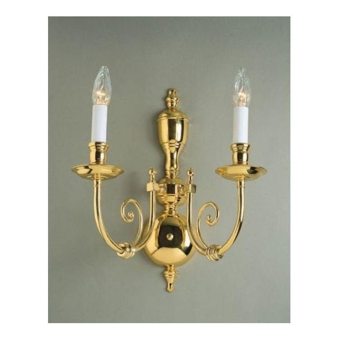 Antique French Style Brass Wall Light 4
