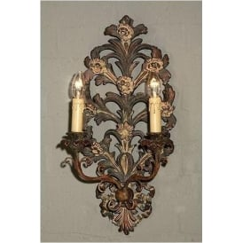 Antique French Style Bronze Sconce Light - 2 Arm