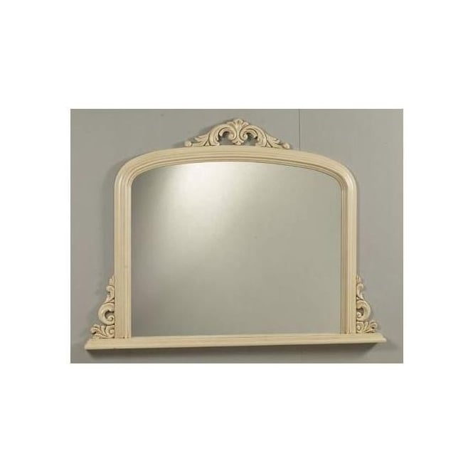 Antique French Style Carla Ivory Overmantle Mirror