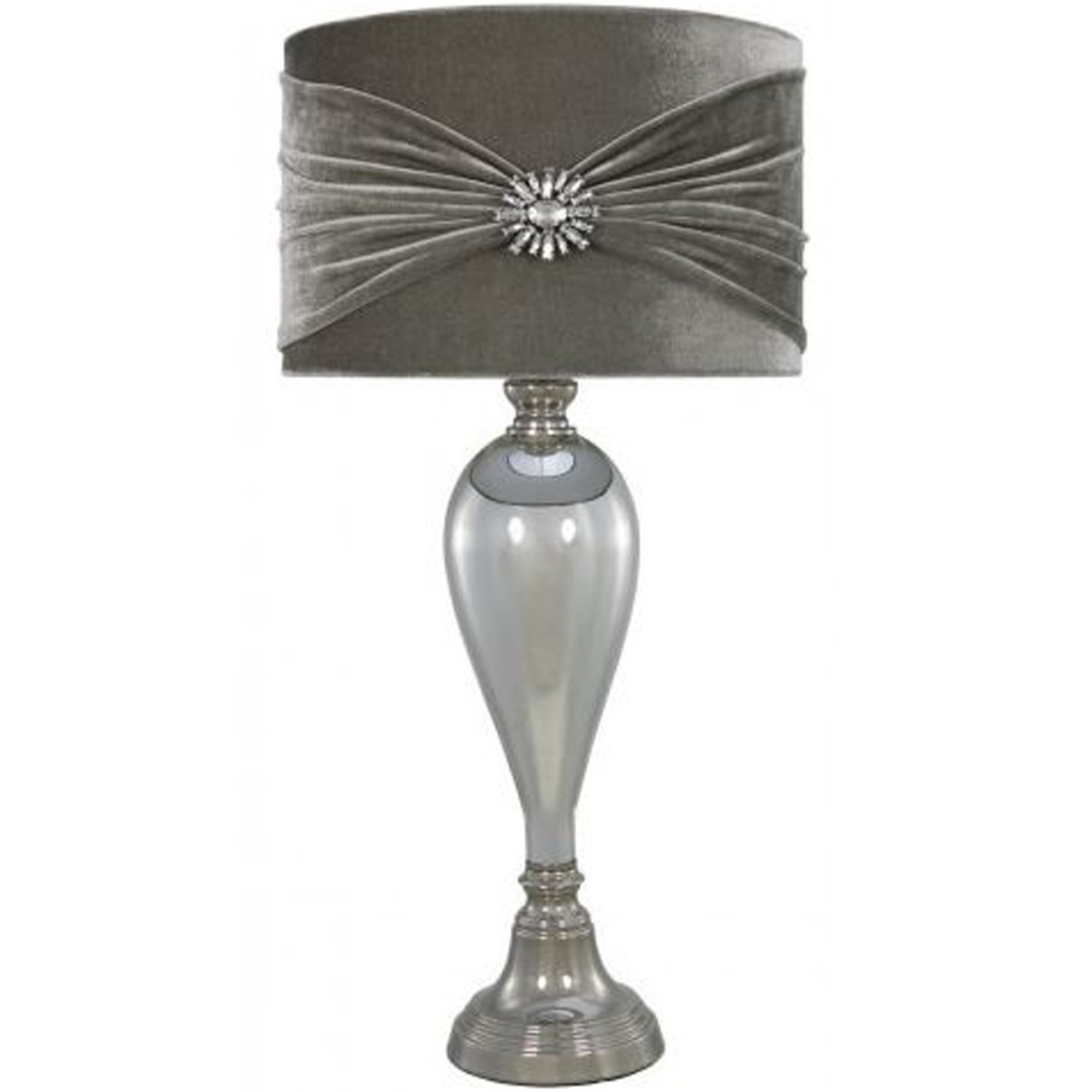 Antique French Style Chrome Glass Table Lamp Lamp Homesdirect365