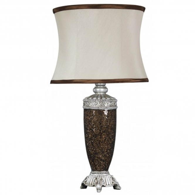 Antique French Style Copper Mosaic Table Lamp