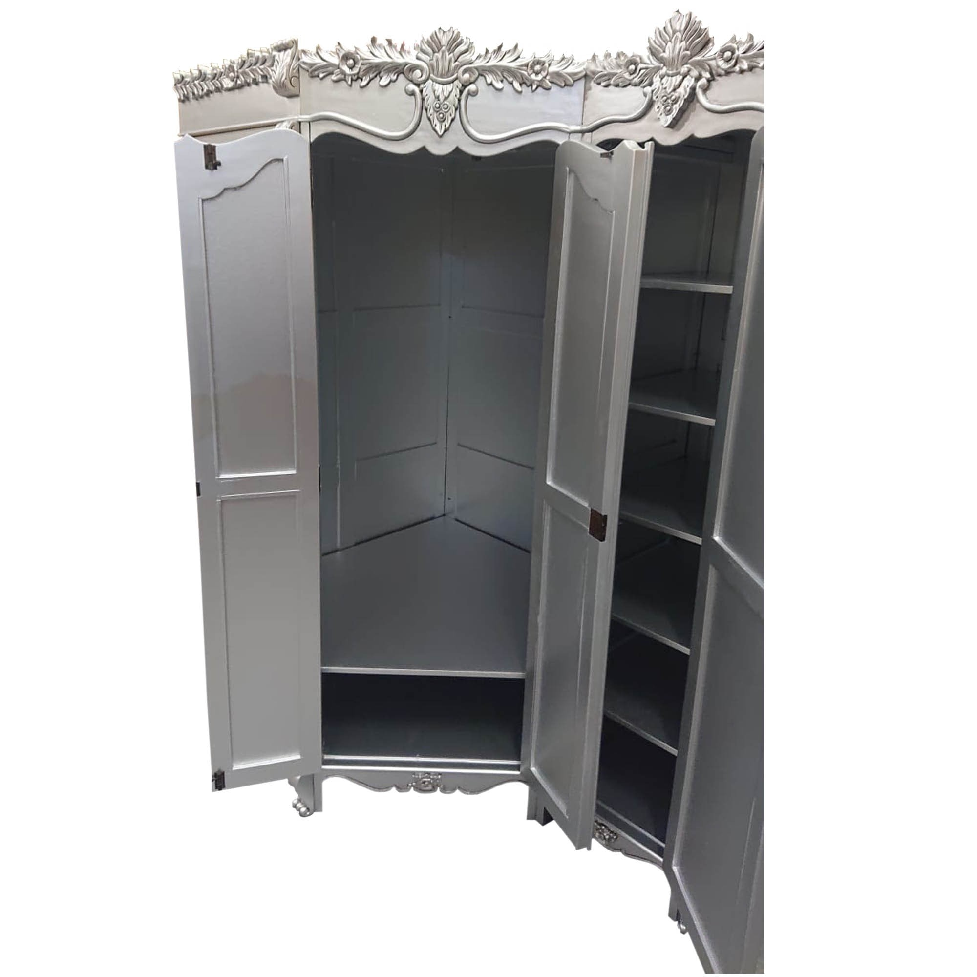 Antique French Style Corner Wardrobe French Furniture Hd365