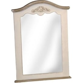 Antique French Style Country Farmhouse Curved Mirror