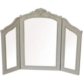 Antique French Style Country Triple Dressing Table Mirror