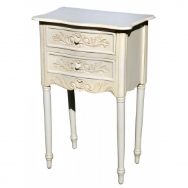 White And Ivory And Creamfrench Bedside Tables White