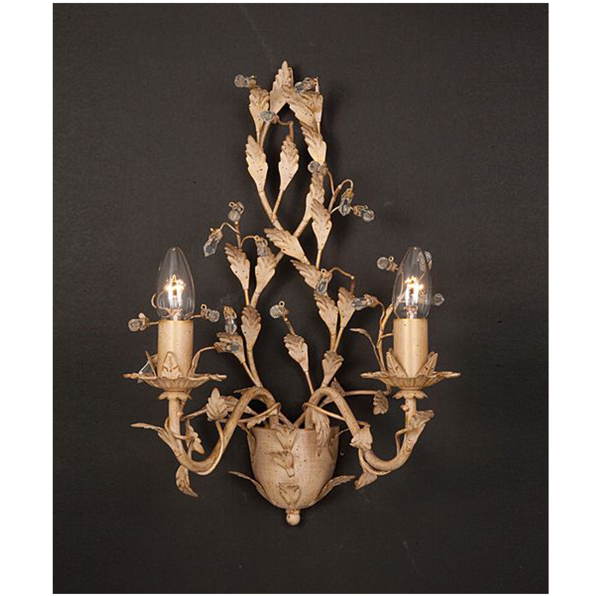 Antique French Style Cream & Gold Wall Light - French Lighting from Homesdirect 365 UK