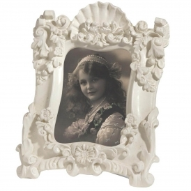 Antique French Style Cream Photo Frame