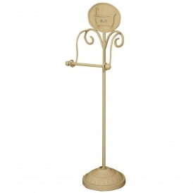 Antique French Style Cream Toilet Roll Holder