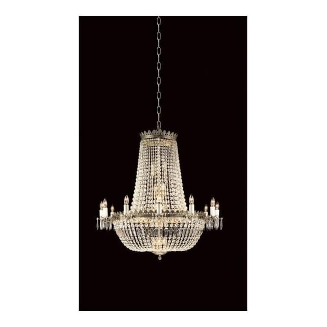 Antique French Style Crystal Empire Chandelier