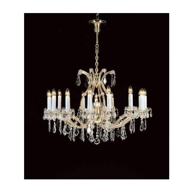 Antique French Style Crystal Pendant Light 15
