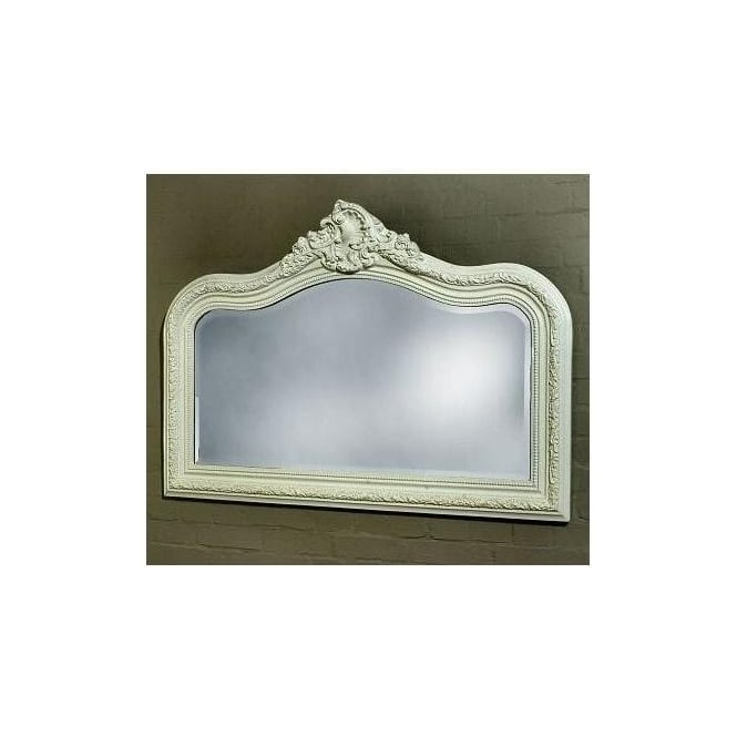 Antique French Style Decorative Overmantle Mirror