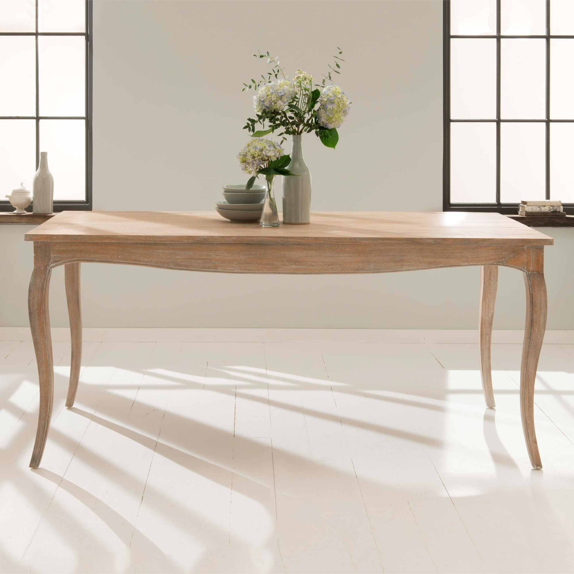 Mindi Wood Antique French Style Dining Table