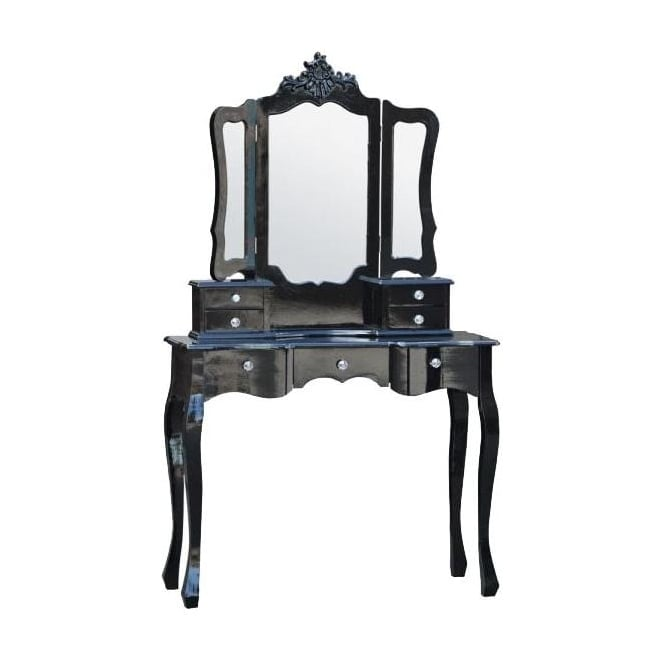 Antique French Style Dressing Table With Mirror