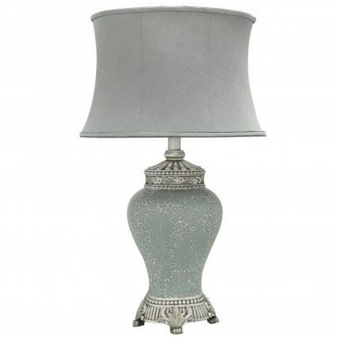 Antique French Style Duck Egg Mosaic Table Lamp
