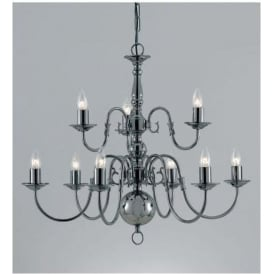 Antique French Style Flemish Silver Chandelier 3