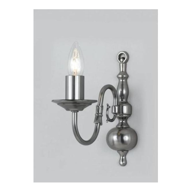 Antique French Style Flemish Silver Wall Light