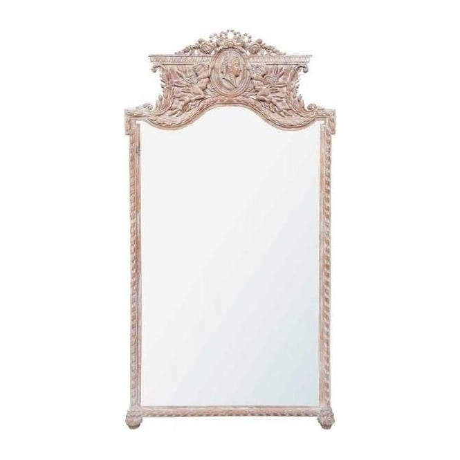 Antique French Style Floor Mirror