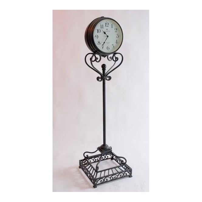 Antique French Style Floor Standing Iron Clock