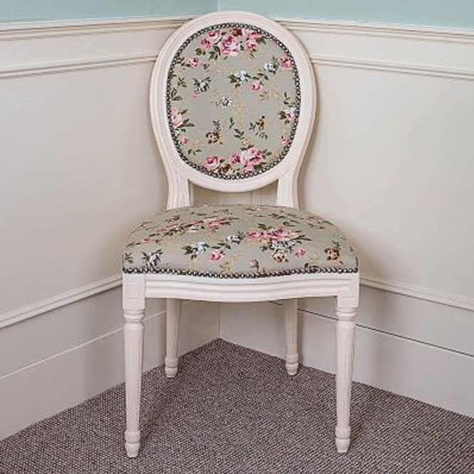 Antique French Style Floral Armchair