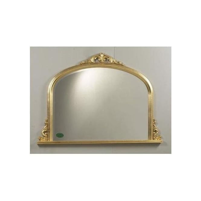Antique French Style Fusion Gold Overmantle Mirror